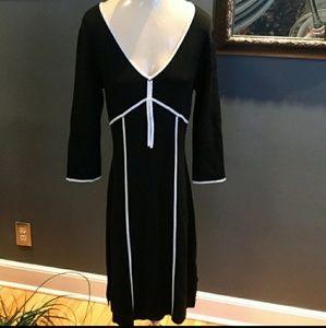BCBG Maxazria Black/White Knit Sweater Dress Sz. L